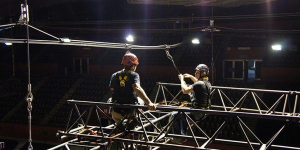 ALTIRAIL in sling version - work in suspension - Grenoble's Palais des sports