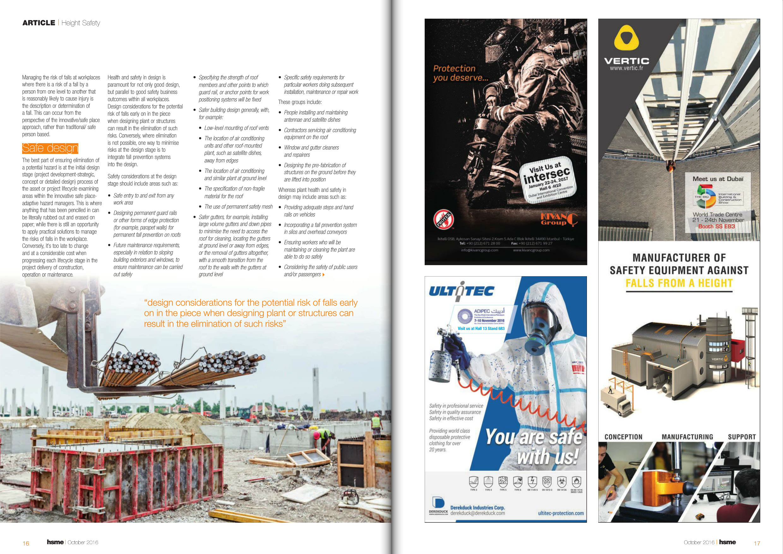 HSME Middle East magazine - VERTIC